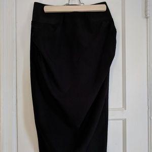 Black Maternity Pencil Skirt